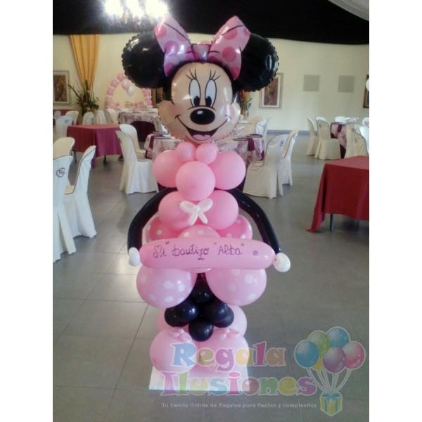 Decoraci n bautizo ni a con globos y mesas candy regala ilusiones Decoracion con bombas para bautizo