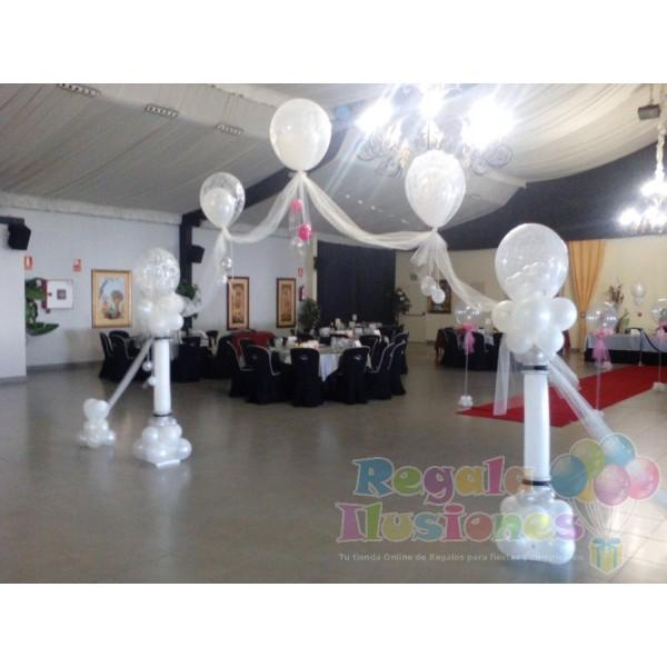 Decoraci n sal n de boda regala ilusiones for Decoracion salon boda