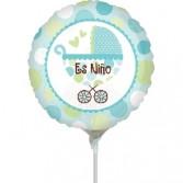 "Globo Foil de 9"" (23cm) Carrito es Niño"