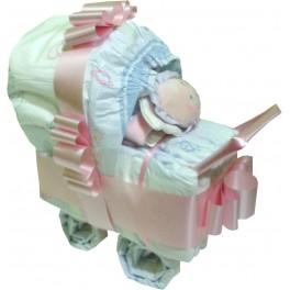Cochecito de Pañales Rosa
