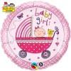 """Globo Foil de 18"""" (45cm)  Baby Girl Stroller"""