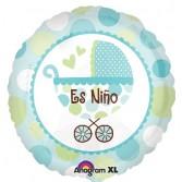 "Globo Foil de 18"" (45cm) Carrito Es Niño"