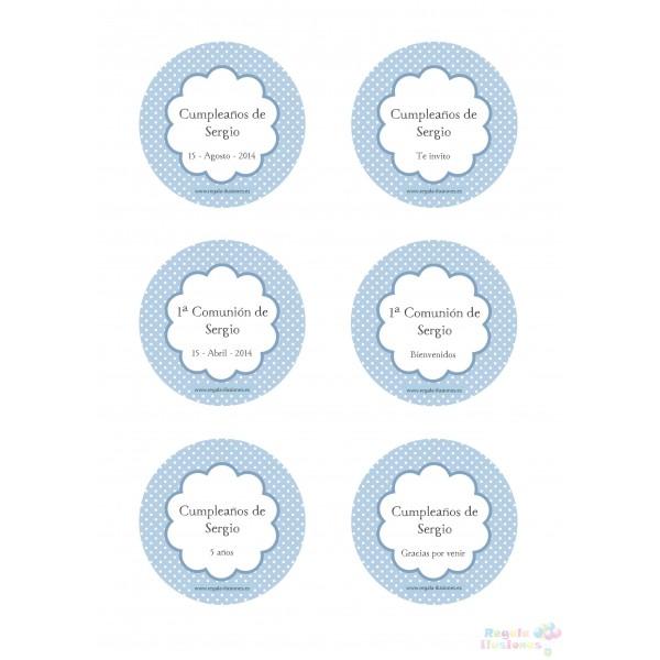100 Etiqueta Circular 7cm CPB imprimible  Regala Ilusiones