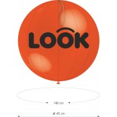 1000 Globos Punch Ball 45cm. 2C-1T
