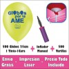 Pack 500 Globos 25cm. 1C-1T Aire Manual