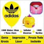 Pack 1000 Globos 30cm. 1C-1T Aire Eléctrico