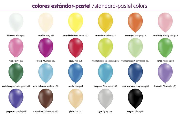 Colores pastel Globos